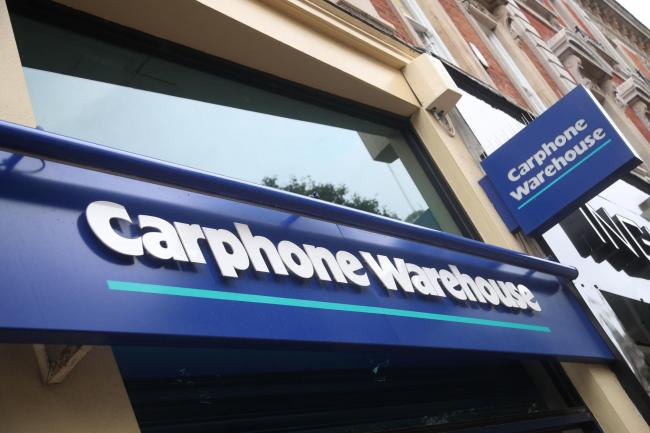 Carphone Warehouse to close all 531 stores and axe nearly 3,000 jobs. Picture: Press Association