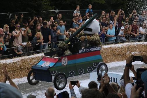 Help for Heroes took part in the Red Bull Soap Box Cart race at Alexandra Palace