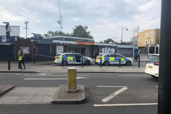 The attack happened outside Enfield Station 3am today