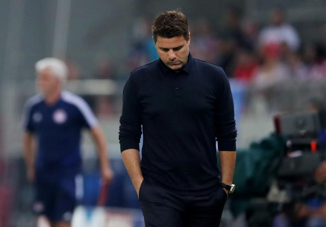 The Spurs boss cuts a frustrated figure on the touchline in Greece. Picture: Action Images