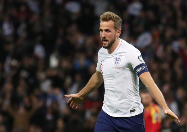 Treble delight: Harry Kane scored a first-half hat-trick. Picture: Action Images