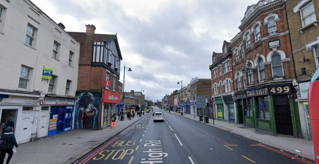 A man was attacked in the early morning at the high street (Photo: Street View)