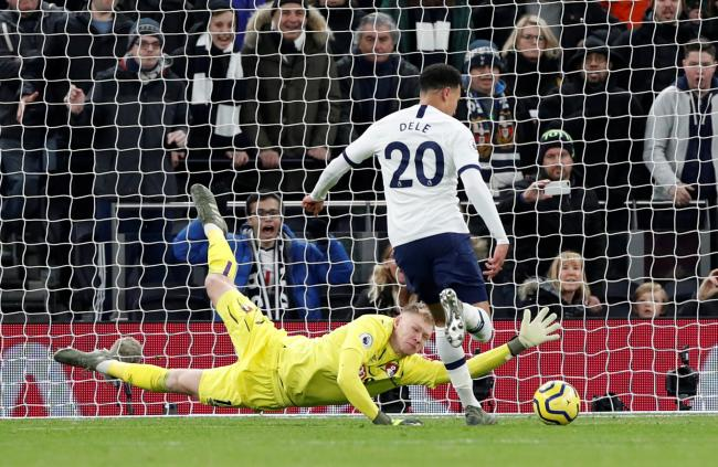 Dele Alli scores Tottenham's second goal. Picture: Action Images