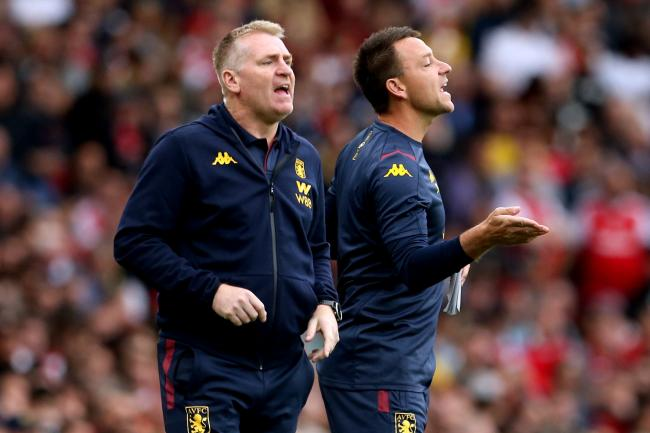 Aston Villa manager Dean Smith, left, feels assistant head coach John Terry has been an inspiration to his players