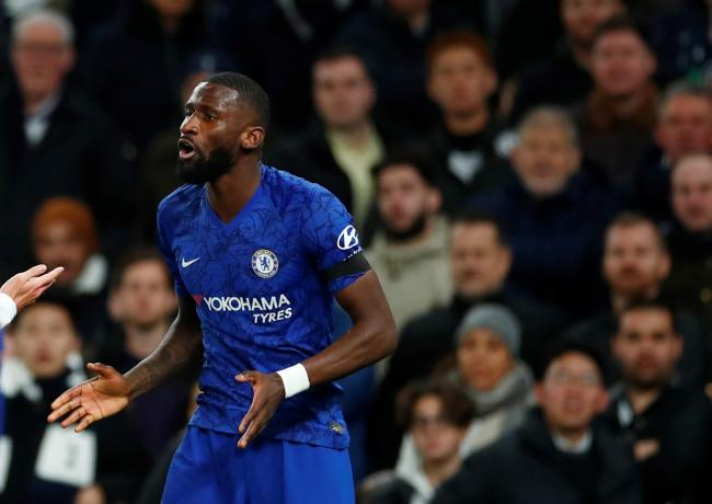 Both Chelsea and Spurs started they fully sport Antonio Rudiger. Picture: Action Images