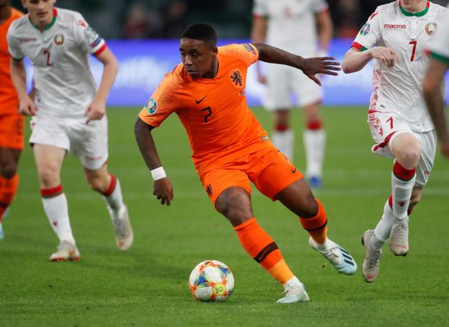 Steven Bergwijn in action for the Dutch. Picture: Action Images