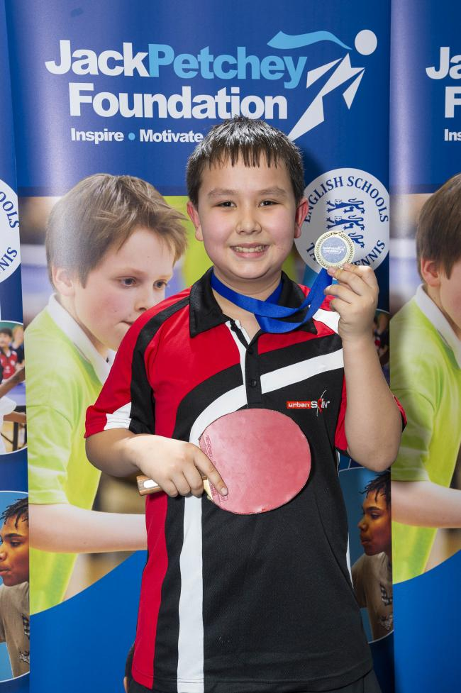 Sam Gabriel won the Under-13 event at the North London regional finals of the Jack Petchey London & Essex Schools Singles Championships. Picture: Stephen Pover