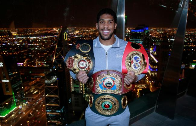 Anthony Joshua is set to defend his titles in June. Picture: Action Images