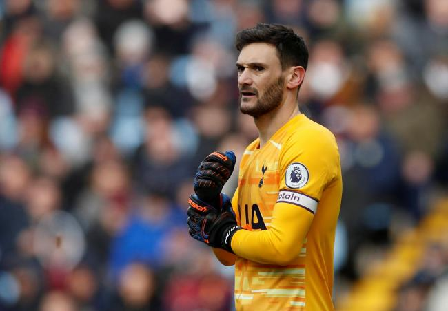Hugo Lloris during Tottenham Hotspur's win over Aston Villa. Picture: Action Images
