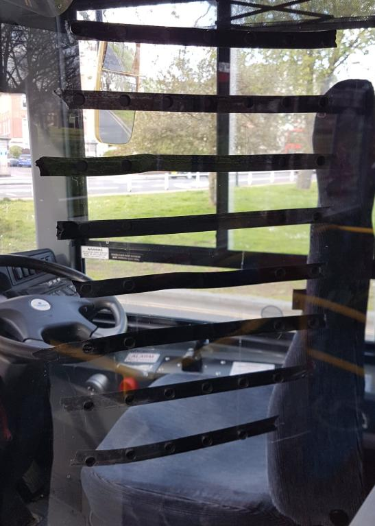 Tottenham Independent: Some drivers have taped over openings on their cabs.
