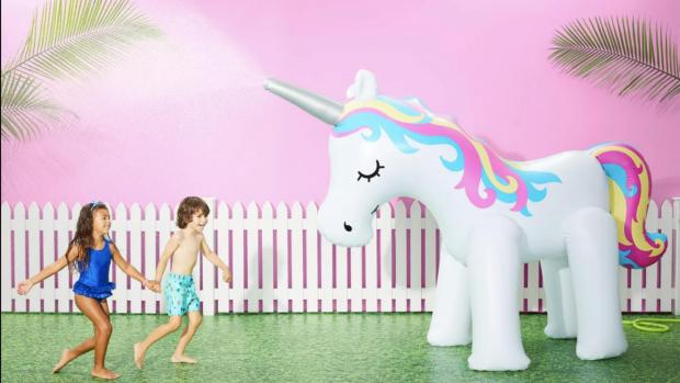 Tottenham Independent: This unicorn sprinkler looms above kids, but it's a good size for adults, too. Credit: Sun Squad