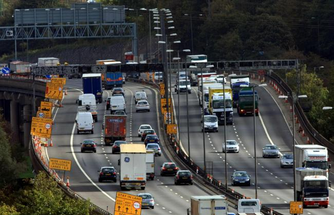Speed limits past motorway roadworks will be increased (photo David Jones/PA Wire)
