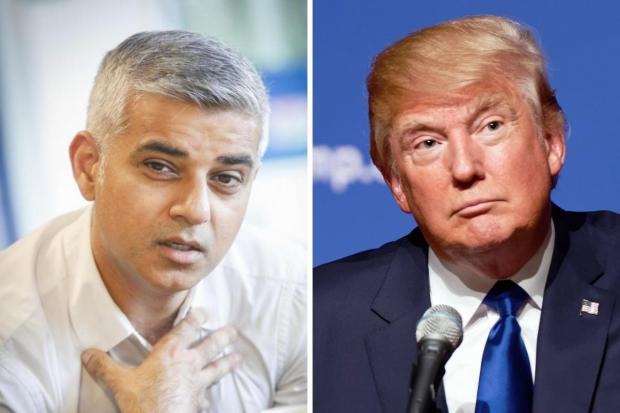 Tottenham Independent: Sadiq Khan (left) and Donald Trump have clashed repeatedly since 2015.