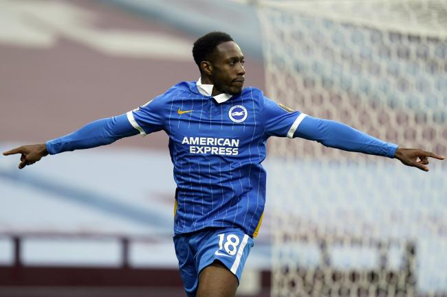 Danny Welbeck scored his first Brighton goal in the win at Aston Villa on Saturday.