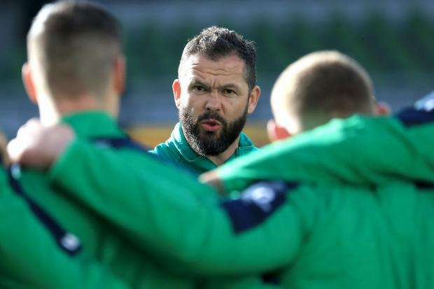 Andy Farrell has had an inconsistent first year as Ireland head coach
