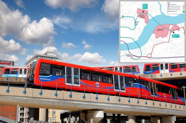 DLR services could be extended to Beckton Riverside and Thamesmead. Credit: TfL/Newsquest
