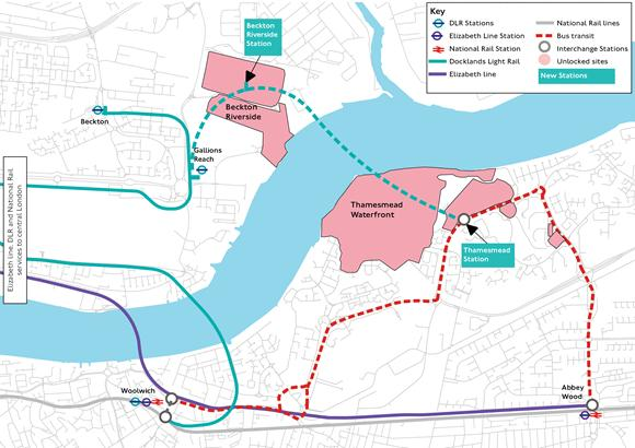 Tottenham Independent: The proposed line extension. Credit: TfL