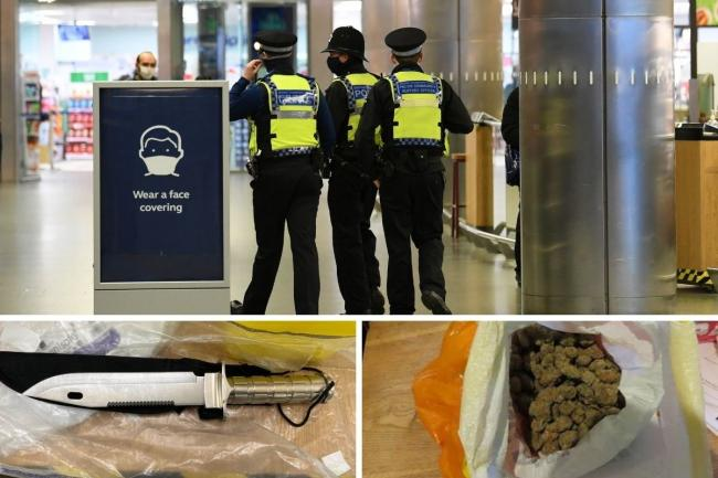 The Met has seized drugs and weapons as part of an anti-violence crackdown this winter. Credit: PA/Met Police/Newsquest