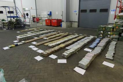 Cocaine from one pallet (Photo: NCA)