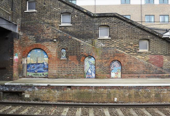 The designs at Palmers Green Station (Amanda Eatwell Photography)