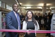 Tottenham MP David Lammy and Haringey councillor Dilek Dogus opening Coombes Croft last Friday