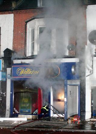 The fire at William Hill betting shop overnight