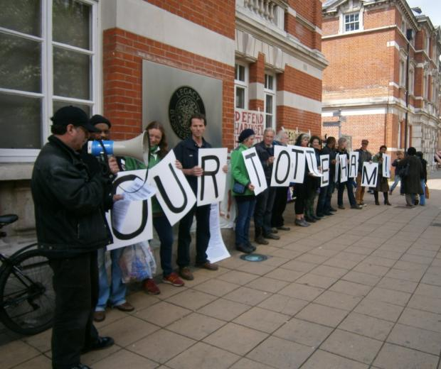 Our Tottenham group outside Tottenham Town Hall