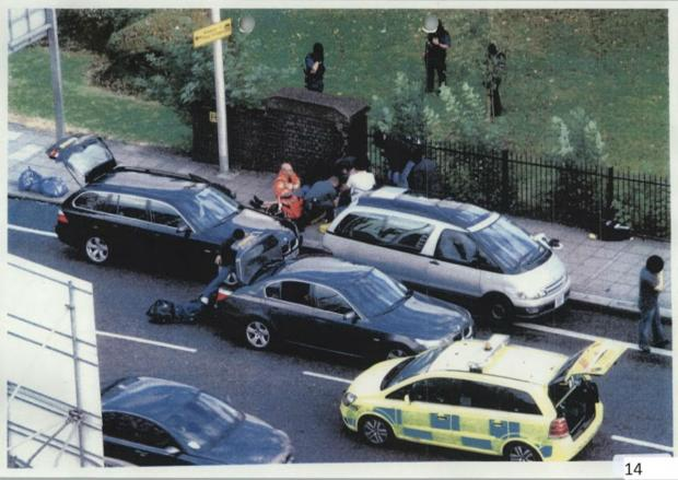 The scene of the Mark Duggan shooting