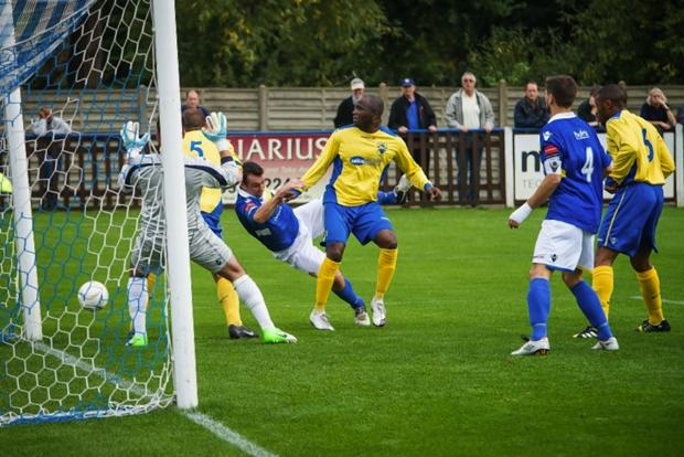 Haringey Borough moved fourth after their latest win: Steve Foster/Wealdstone FC