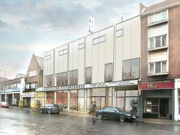 An artist interpretation of what the new Crouch End Picturehouse will look like