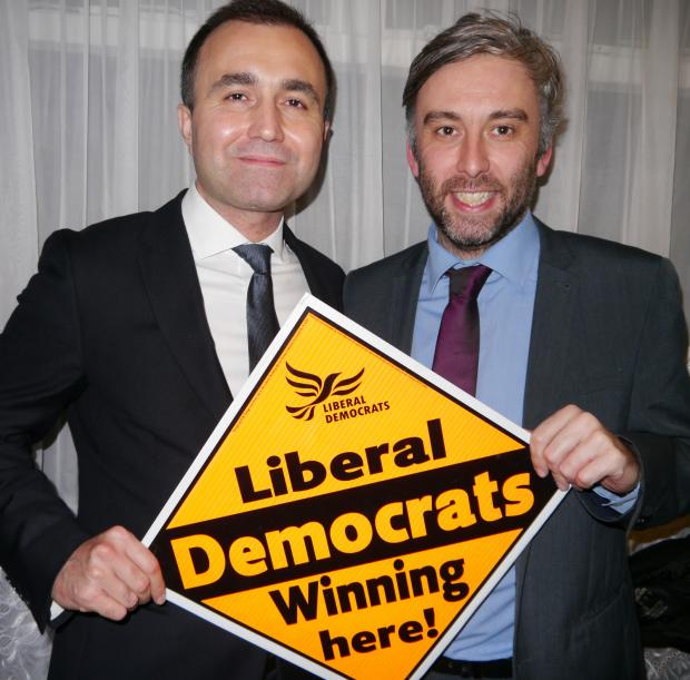 Turhan Ozen (left) was selected by Haringey's Liberal Democrats to run against David Lammy to become MP for Tottenham
