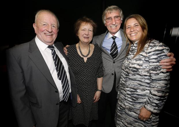 Terry Dyson, Julie Welch, Cliff Jones and Zoe Nathenson attended an charity film screening