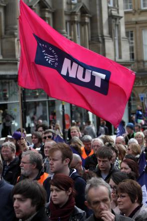 NUT members on a march