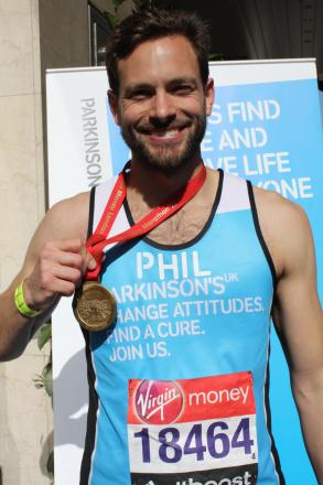 Phil Stephensen completed the London Marathon for Parkinson's UK