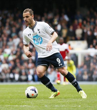 Roberto Soldado became Tottenham's record signing this summer when he joined from Valencia for £26m. Picture: Action Images