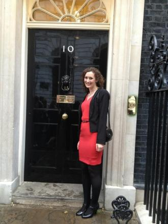 Ruth Gallie outside Number 10