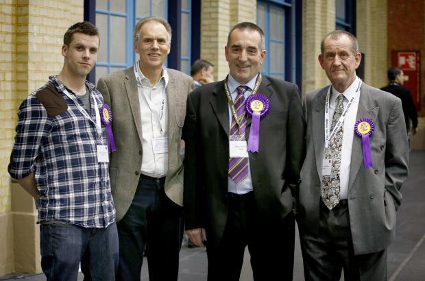 Roger Gravett (second from right) admits Haringey is a