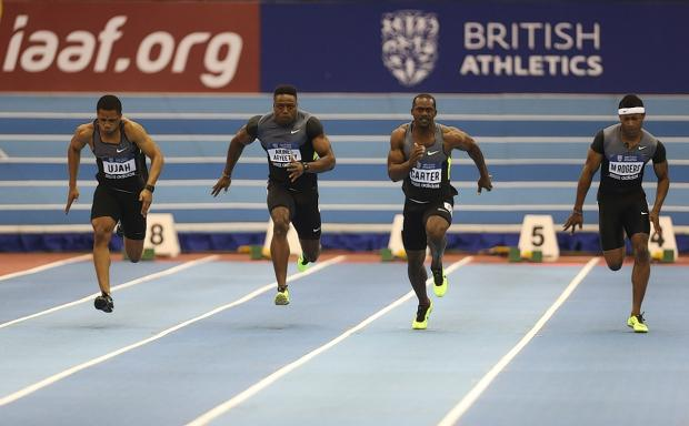 Chijindu Ujah, left, set a new record after his run in the Netherlands: Action Images