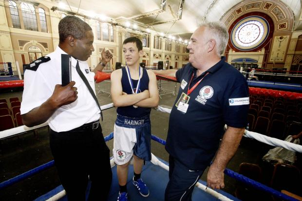 Borough Commander Victor Olisa at a police boxing event earlier this year
