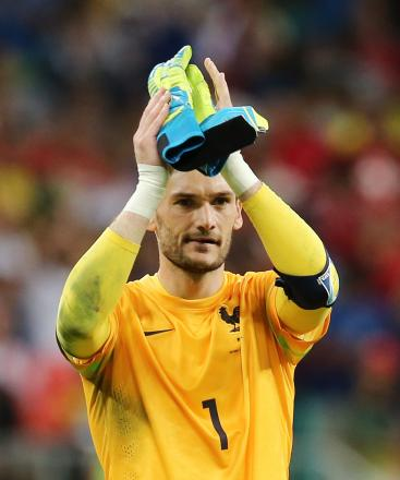 Hugo Lloris salutes the French support at full-time. Picture: Action Images