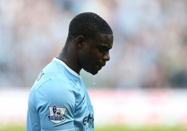 Micah Richards cuts a dejected figure last season. Picture: Action Images