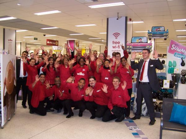 The team at Wilko Wood Green