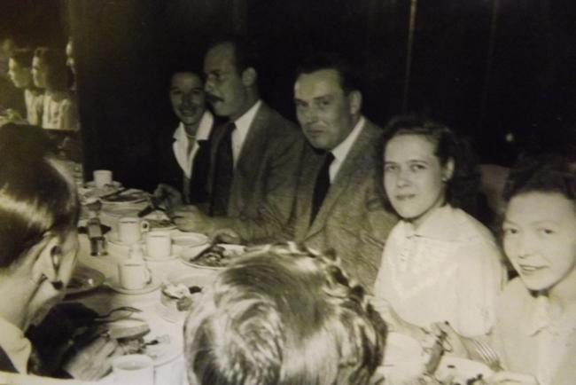 Ivy (second from right) with colleagues at a Dunhill dinner around the time she wrote the diary