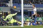 Harry Kane in action against Everton. Picture: Action Images