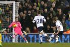 Harry Kane nets Tottenham's third goal. Picture: Action Images