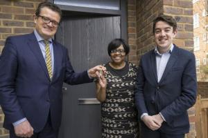 New tenants move into Haringey's first new council houses to be built in at least 30 years.