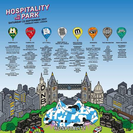 Hospitality In The Park 2017 at Finsbury Park w/ Roni Size + More...