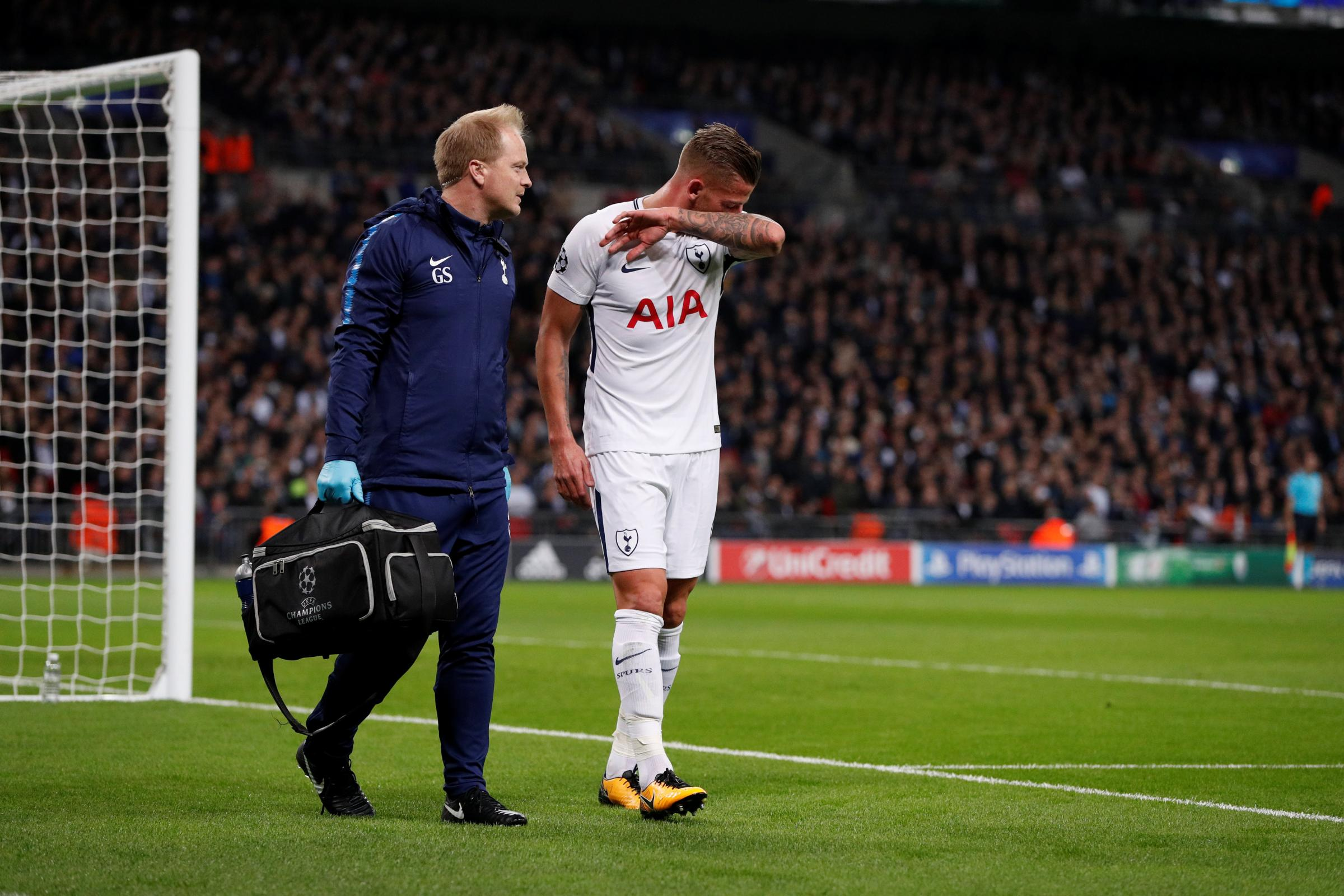 Toby Alderweireld suffered a hamstring injury in the victory against Real Madrid. Picture: Action Images