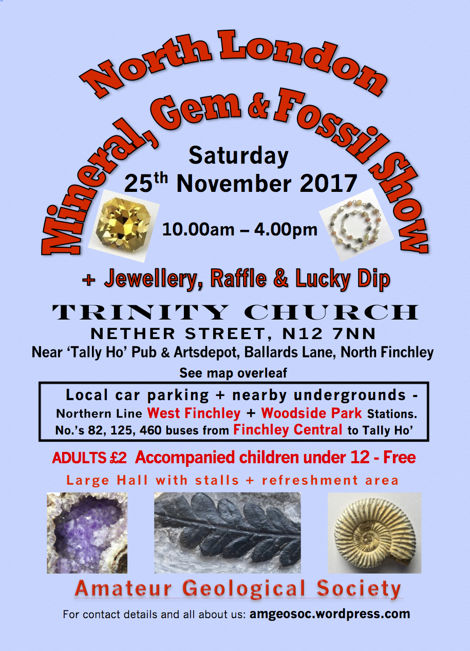 MINERAL, GEM & FOSSIL SHOW - NORTH FINCHLEY