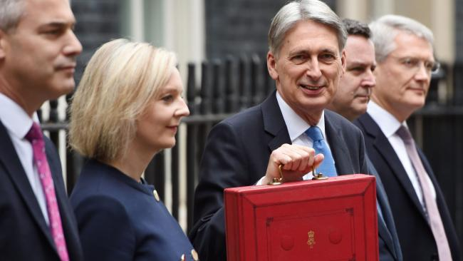 Chancellor Philip Hammond and his Treasury team ahead of the Budget